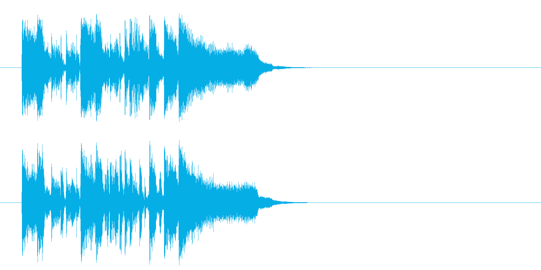 ジングル/新作情報向(フュージョン)の再生済みの波形