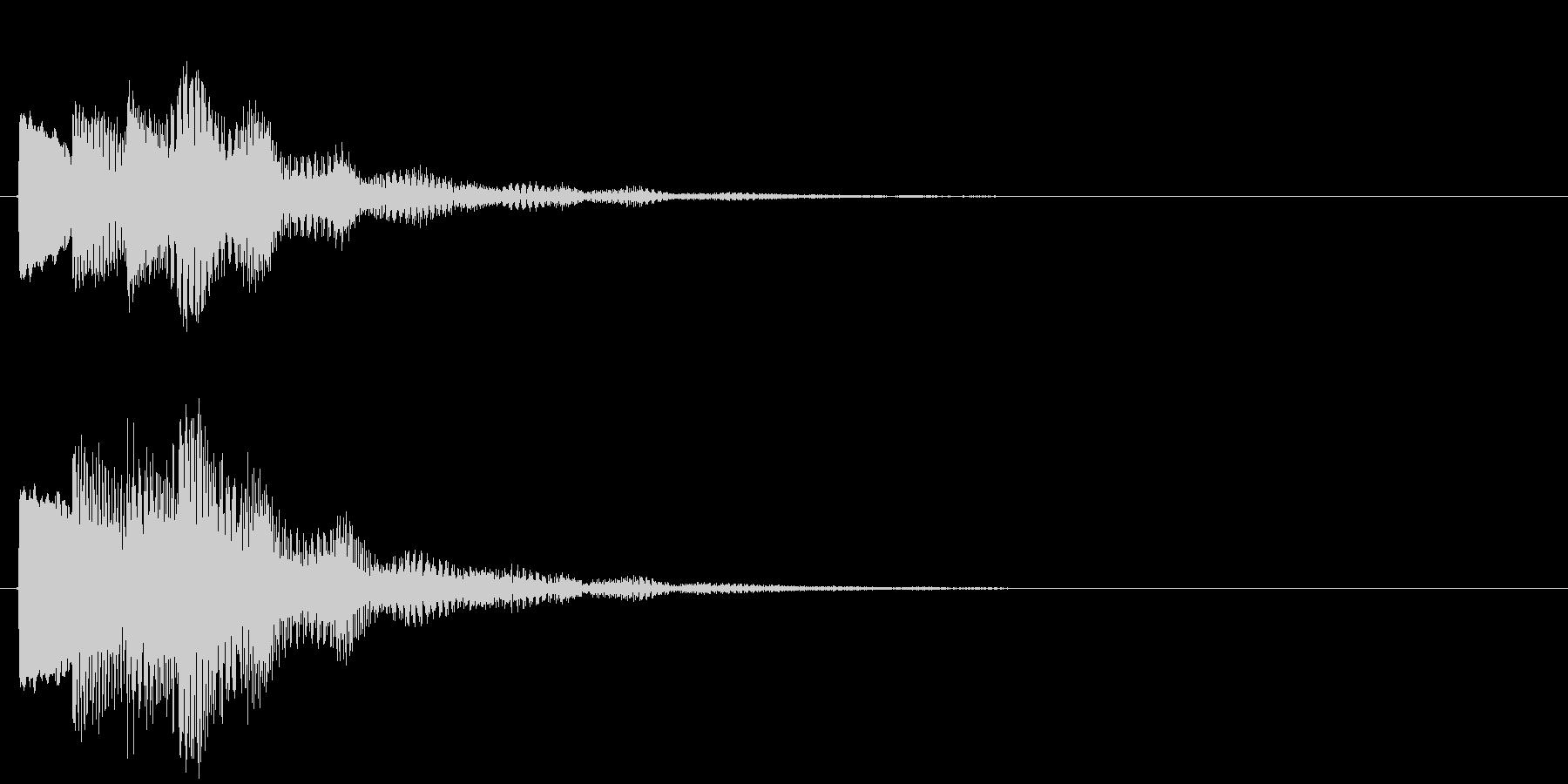 決定/ボタン押下音(成功音)の未再生の波形