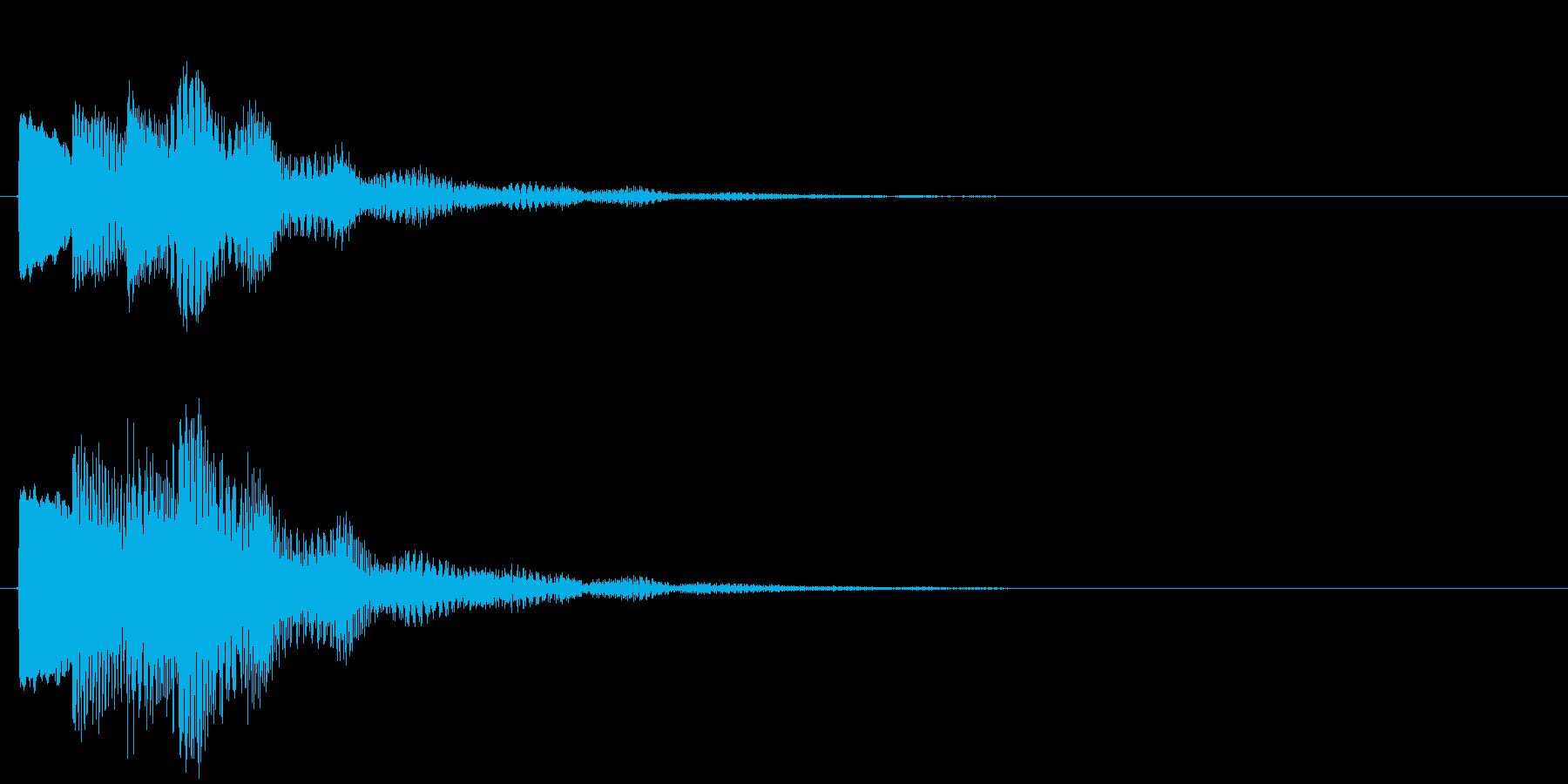 決定/ボタン押下音(成功音)の再生済みの波形