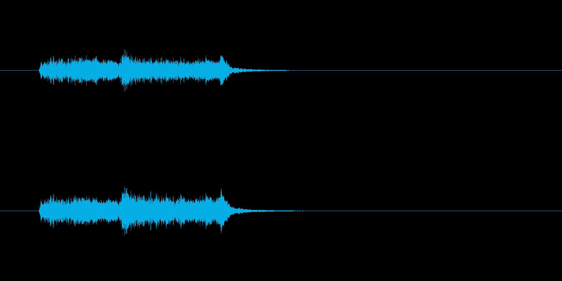 ジングル(ファンファーレ)の再生済みの波形