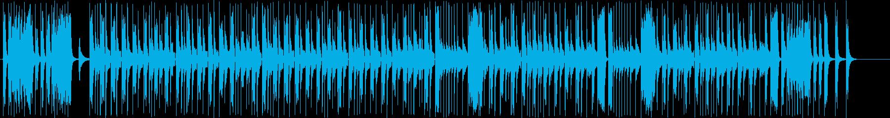 ゆるキャラのような可愛いBGMの再生済みの波形