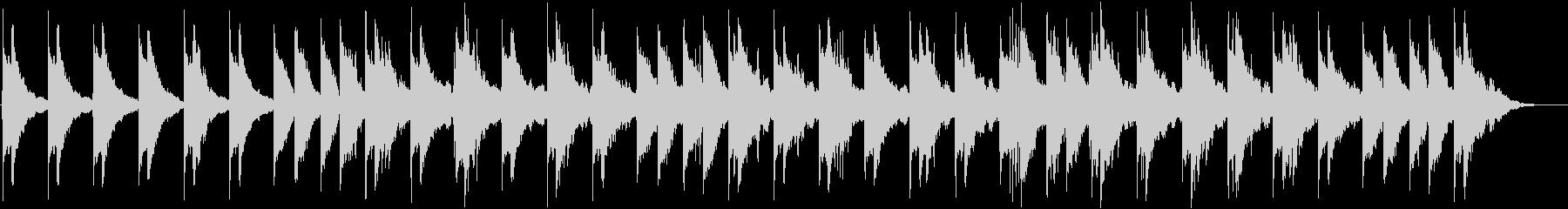音と音の隙間の多いアンビエント系BGMの未再生の波形