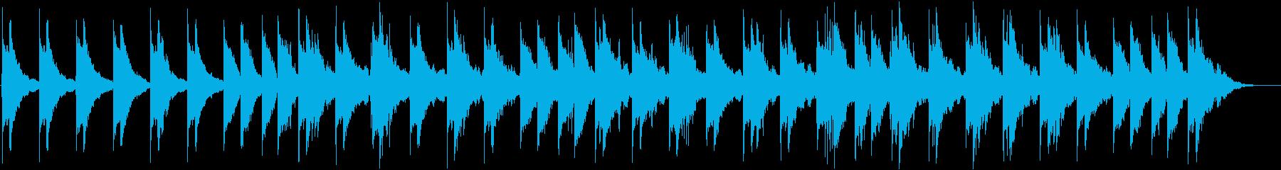 音と音の隙間の多いアンビエント系BGMの再生済みの波形