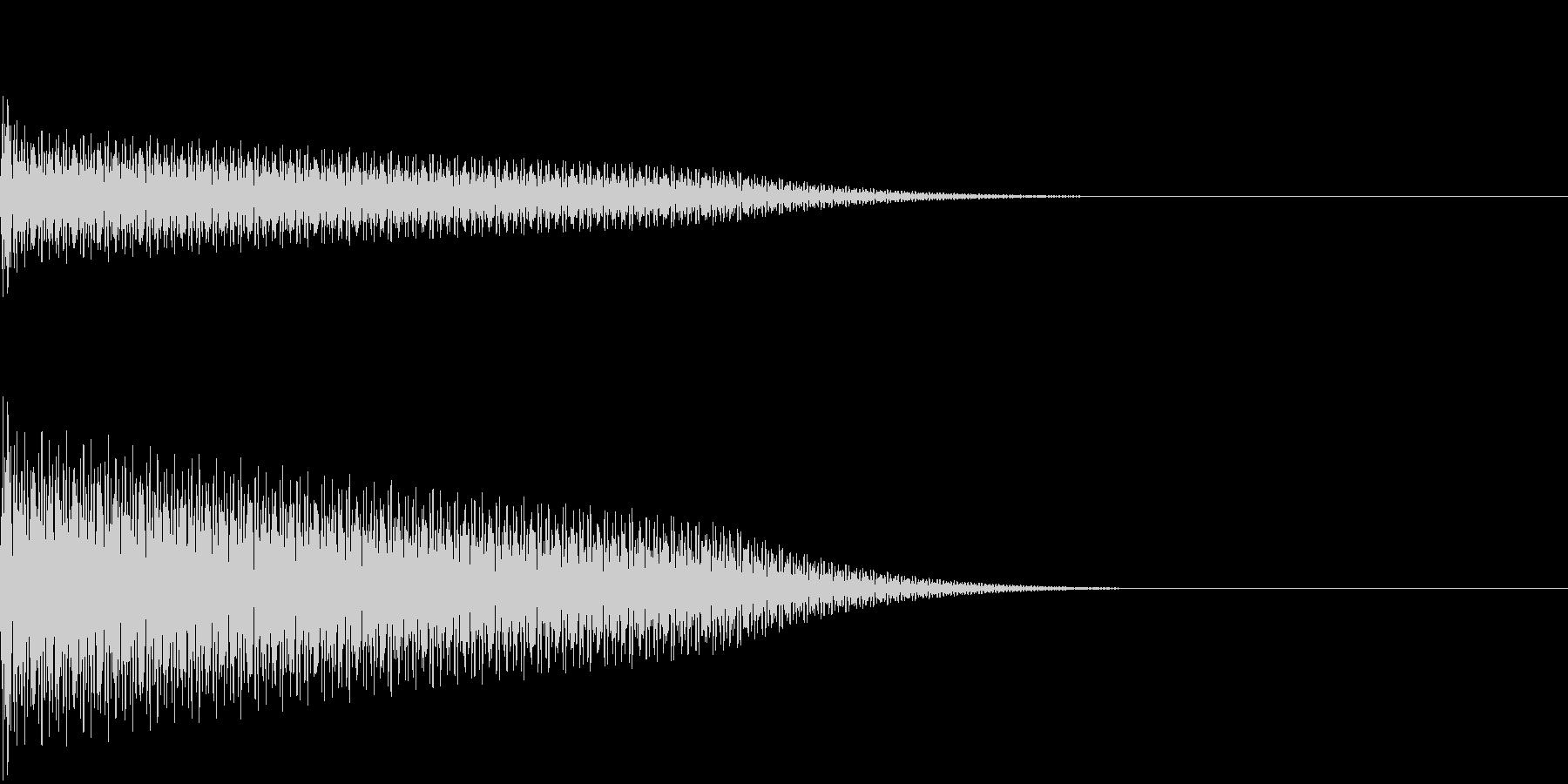 【SE 効果音】奇妙な音の未再生の波形