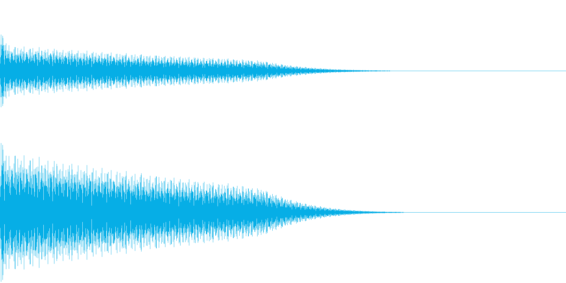 【SE 効果音】奇妙な音の再生済みの波形
