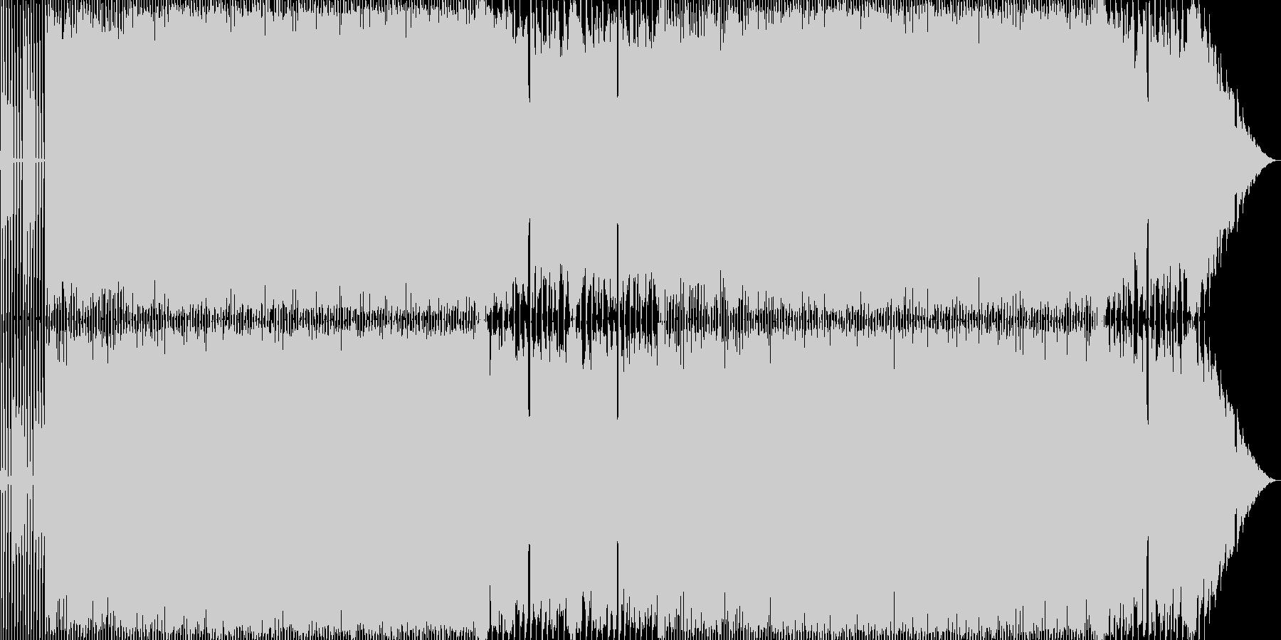 どことなくコミカルなハードロックの未再生の波形