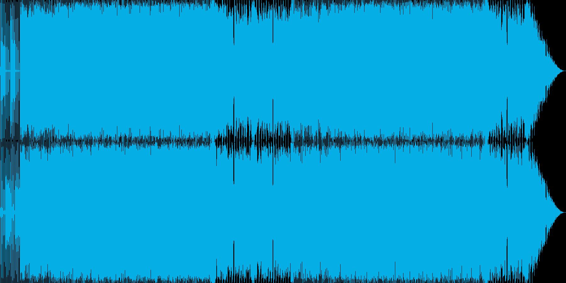 どことなくコミカルなハードロックの再生済みの波形