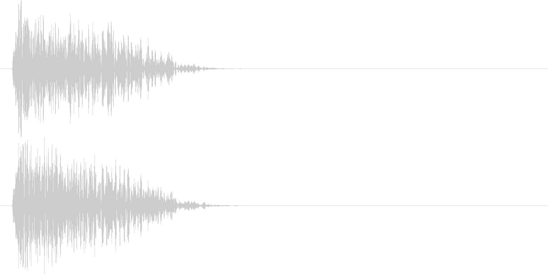 ドゥォーーン(爆発音)の未再生の波形