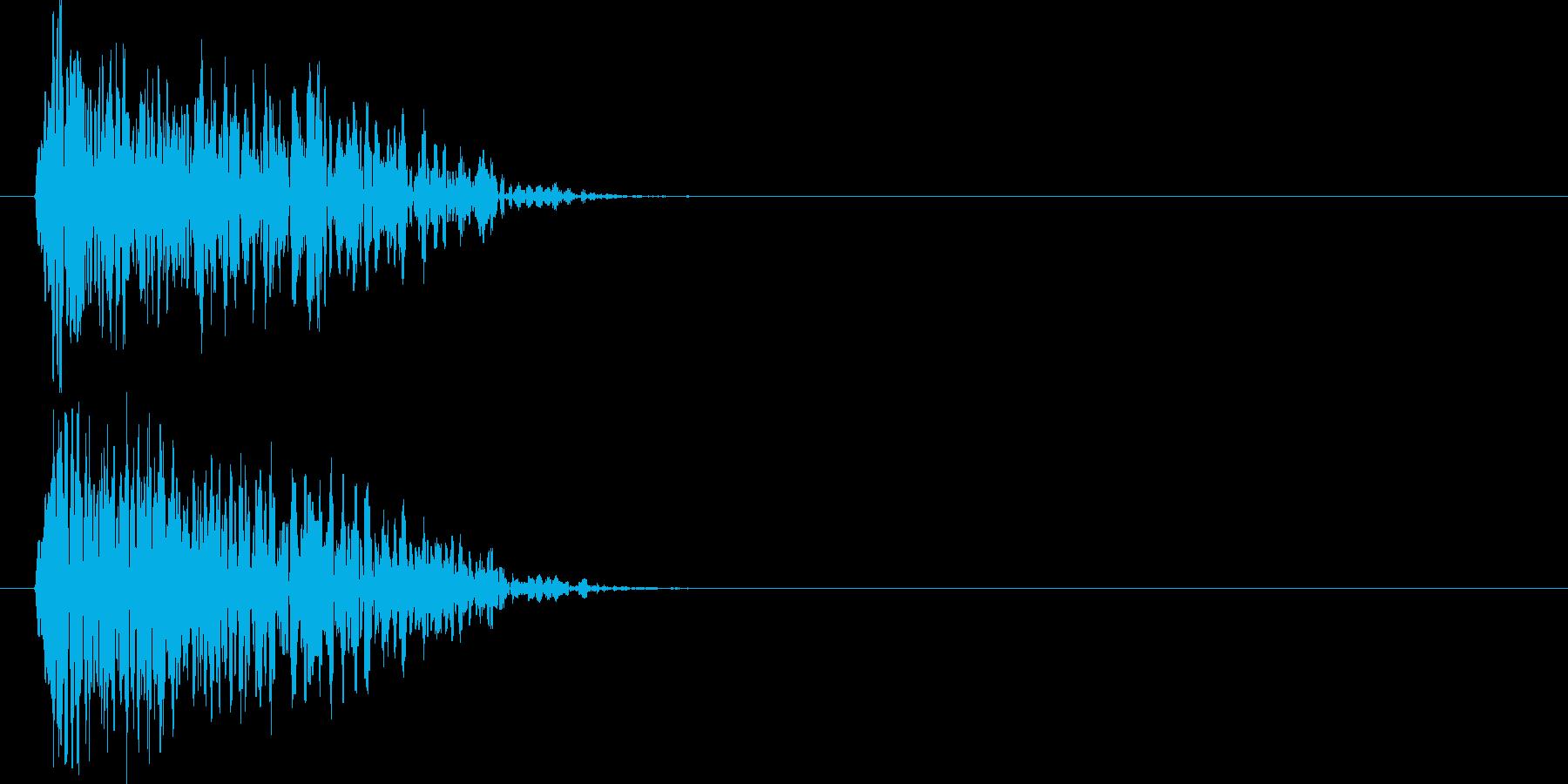 ドゥォーーン(爆発音)の再生済みの波形