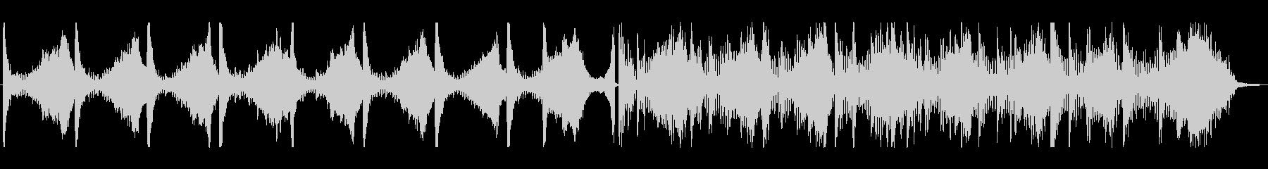 無音・間を表現したBGMの未再生の波形