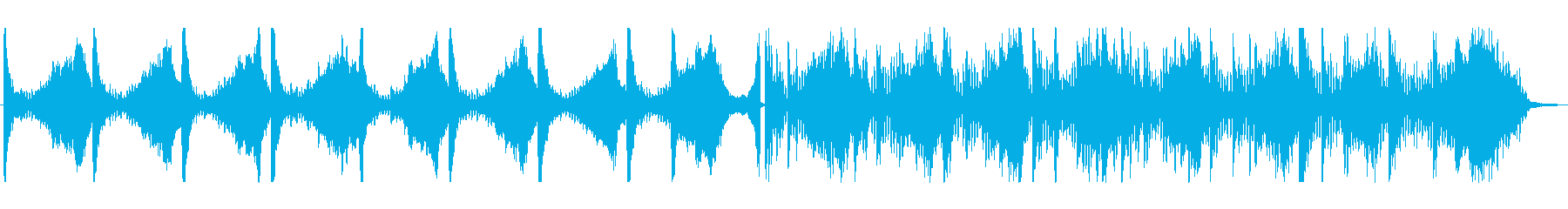 無音・間を表現したBGMの再生済みの波形
