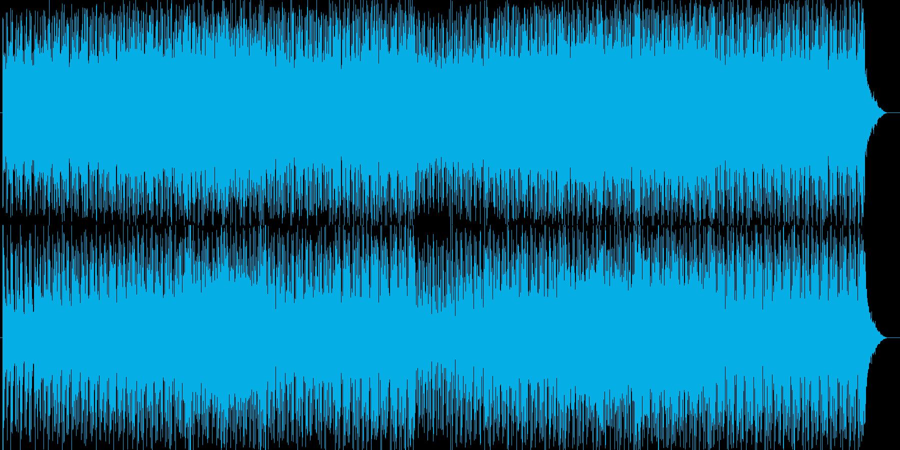 アップテンポで爽快なテクノポップの再生済みの波形
