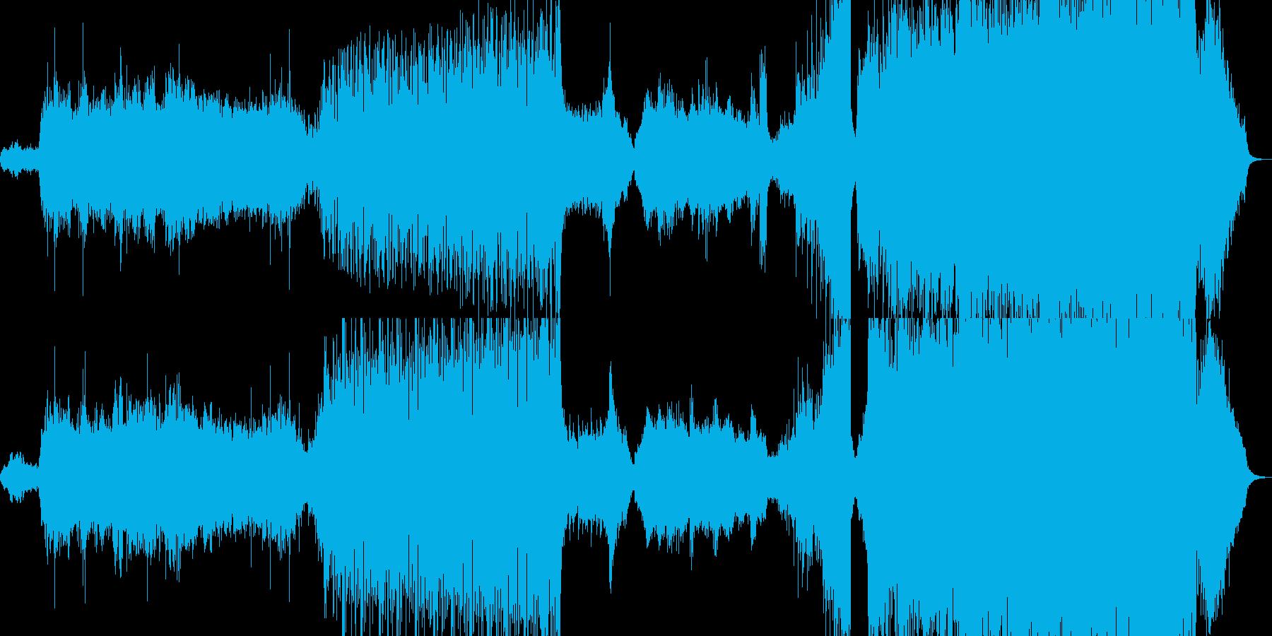 クラシカルとトライバル風の再生済みの波形