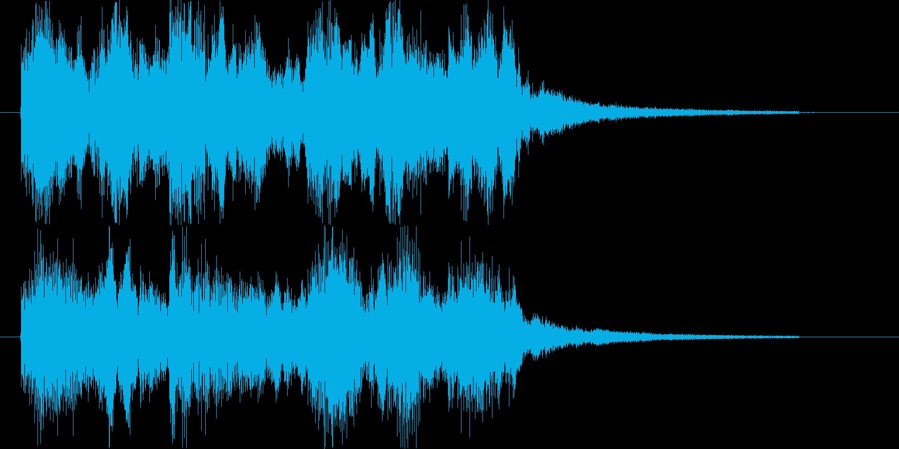 ジングル ゲームクリア マーチの再生済みの波形