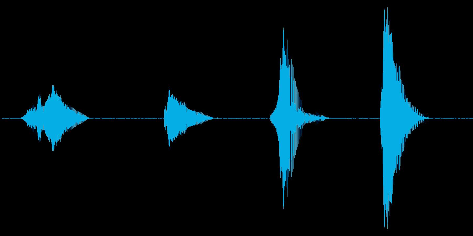 3(スリー)・2(トゥー)・1(ワン)…の再生済みの波形