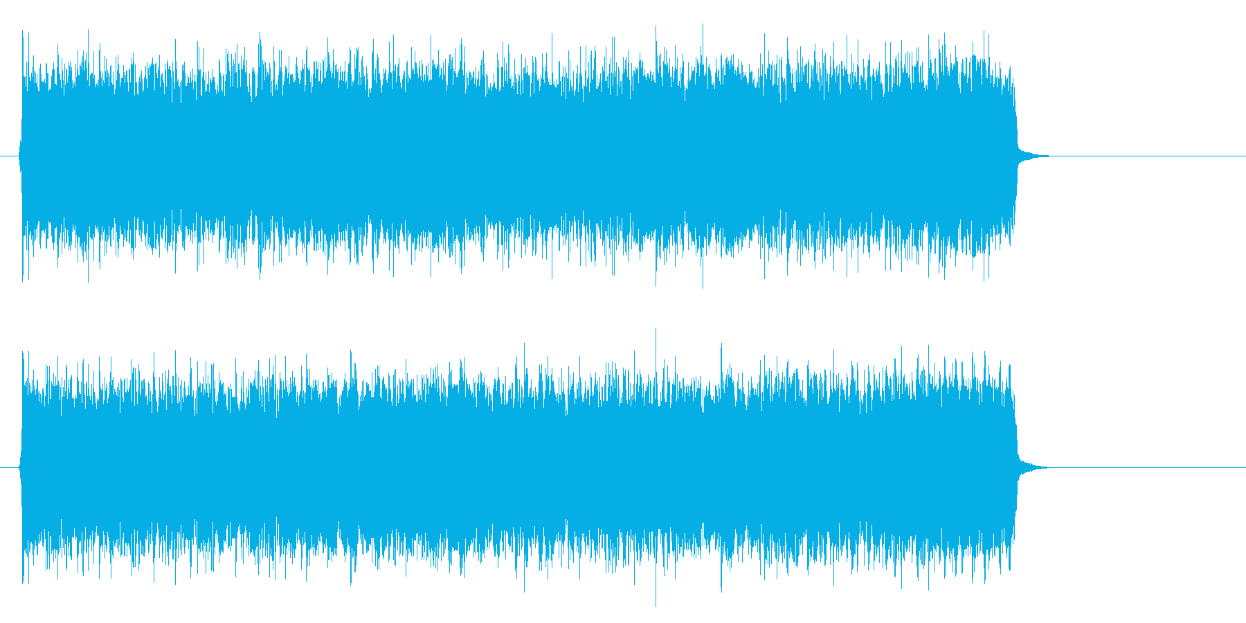 疾走感のあるハードロック(A~エンド)の再生済みの波形