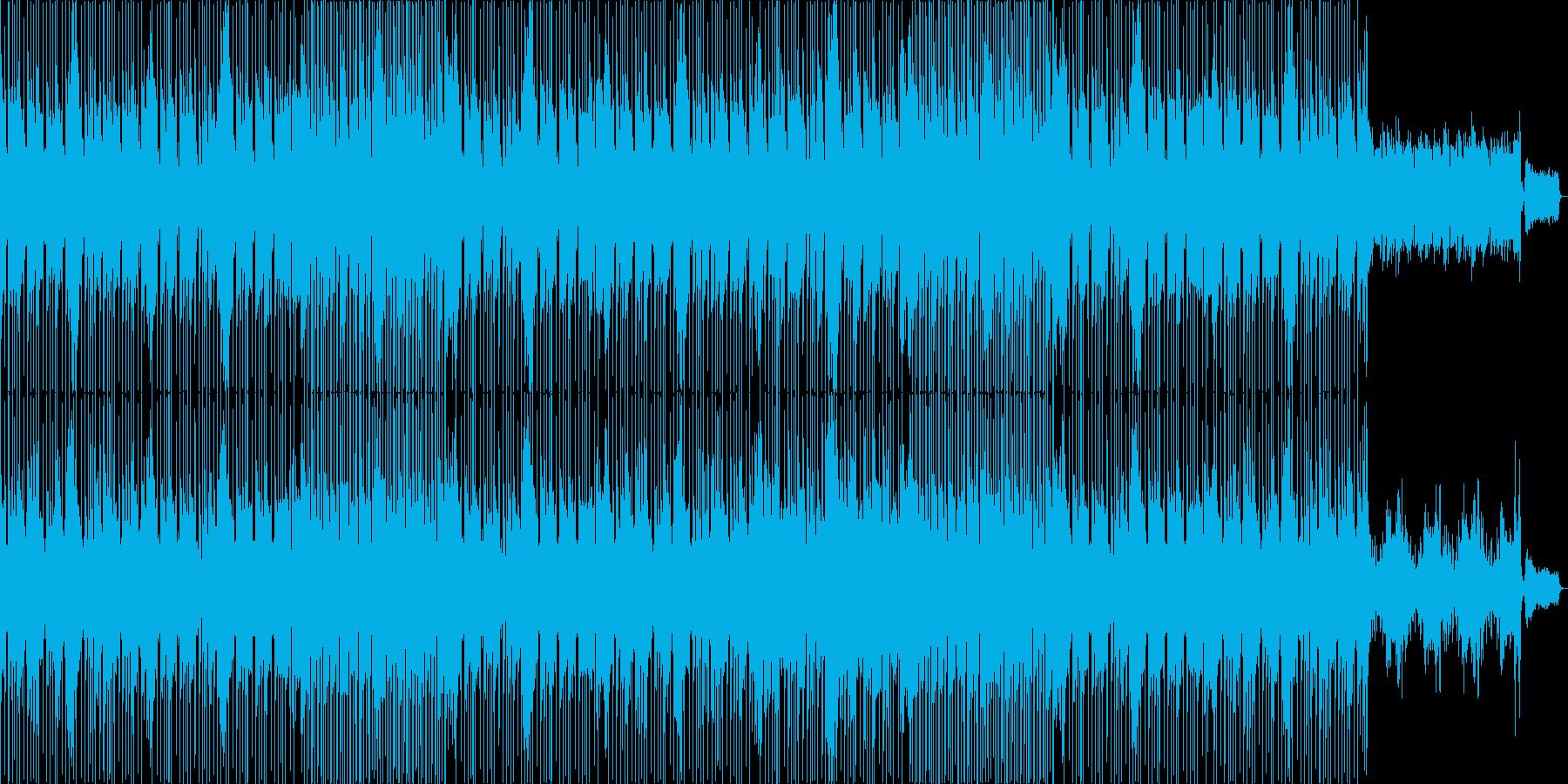 いかにも日曜の朝のニュースのような曲の再生済みの波形