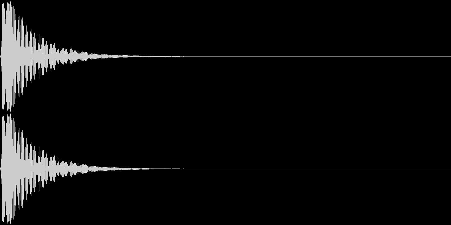Cap フタ・栓を開ける音 3の未再生の波形