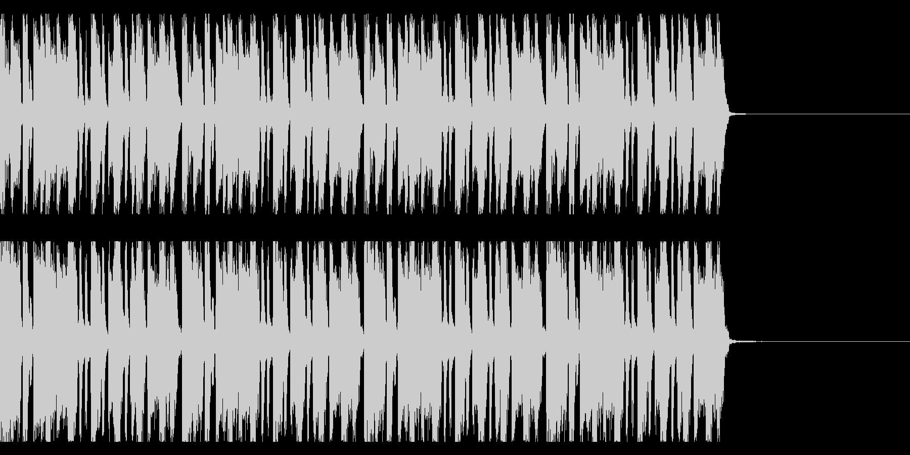 リズムギターリフ ドラムありの未再生の波形