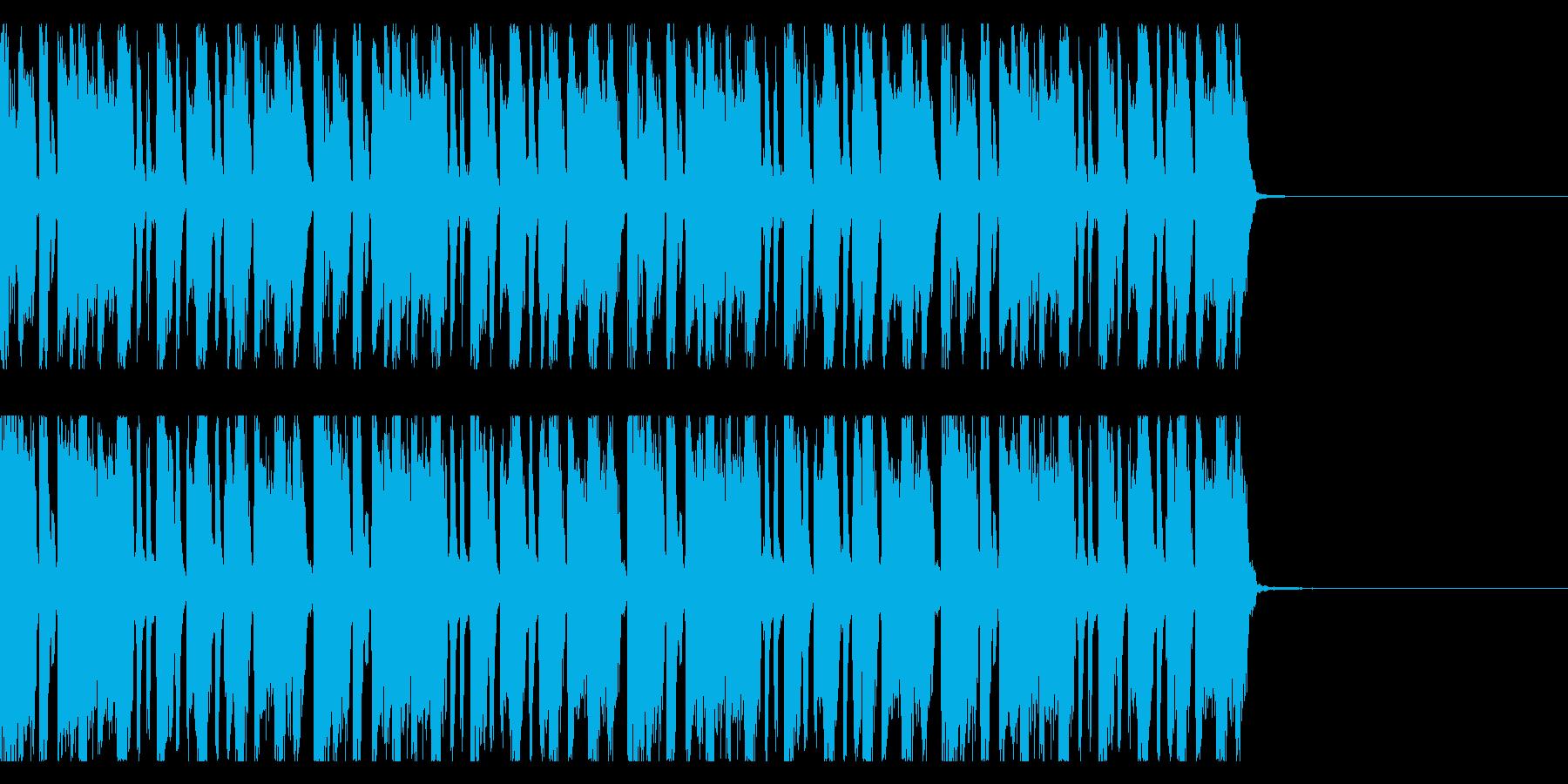 リズムギターリフ ドラムありの再生済みの波形