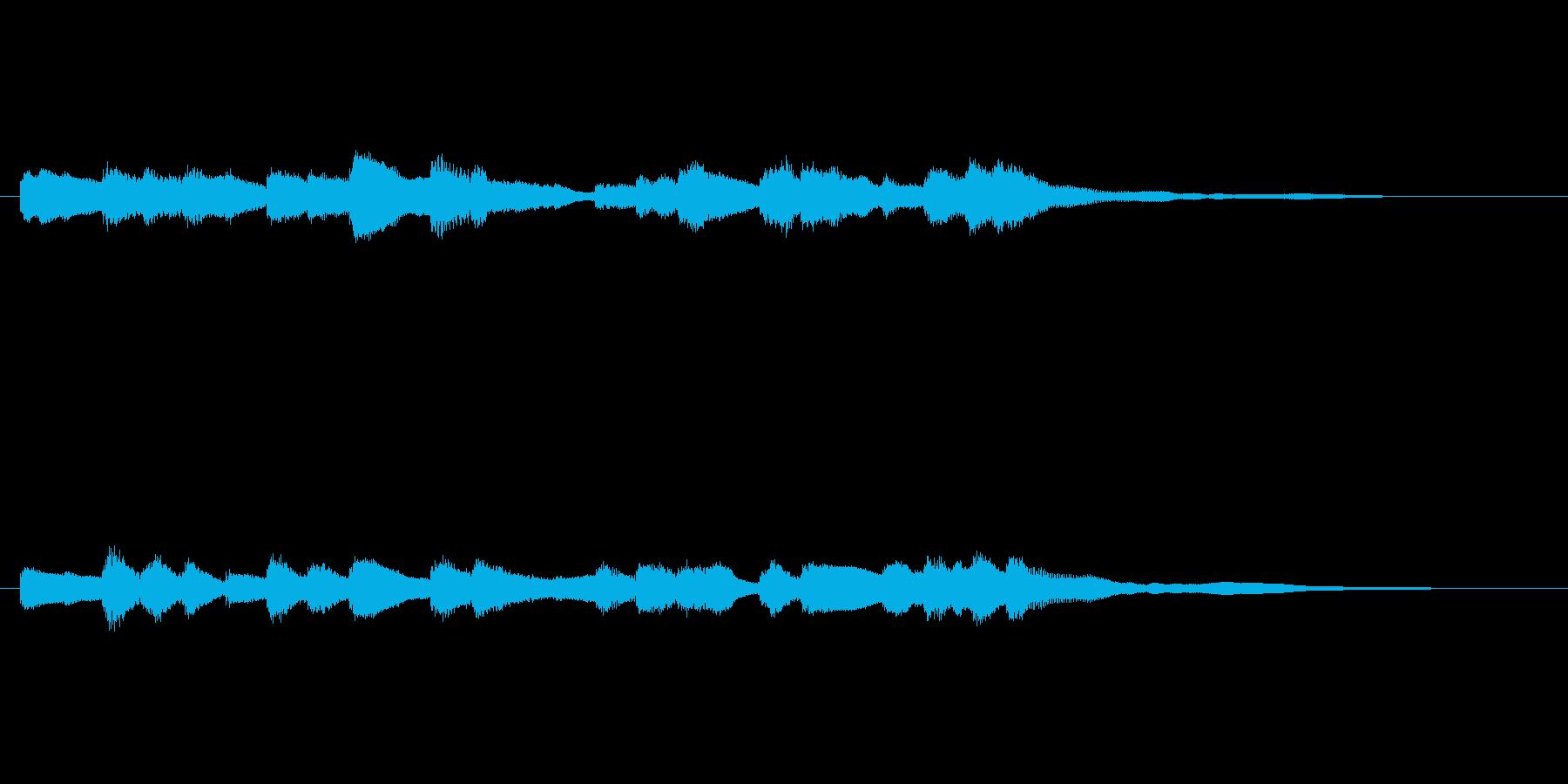 鉄道の到着メロディ(オルゴール音)の再生済みの波形