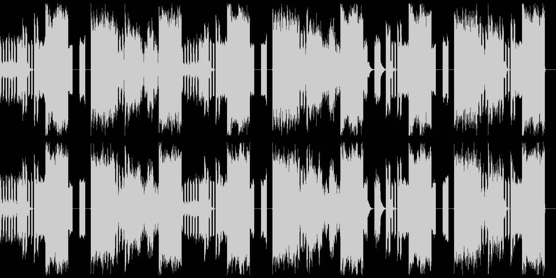 テクノ系BGMです 機械音楽の未再生の波形