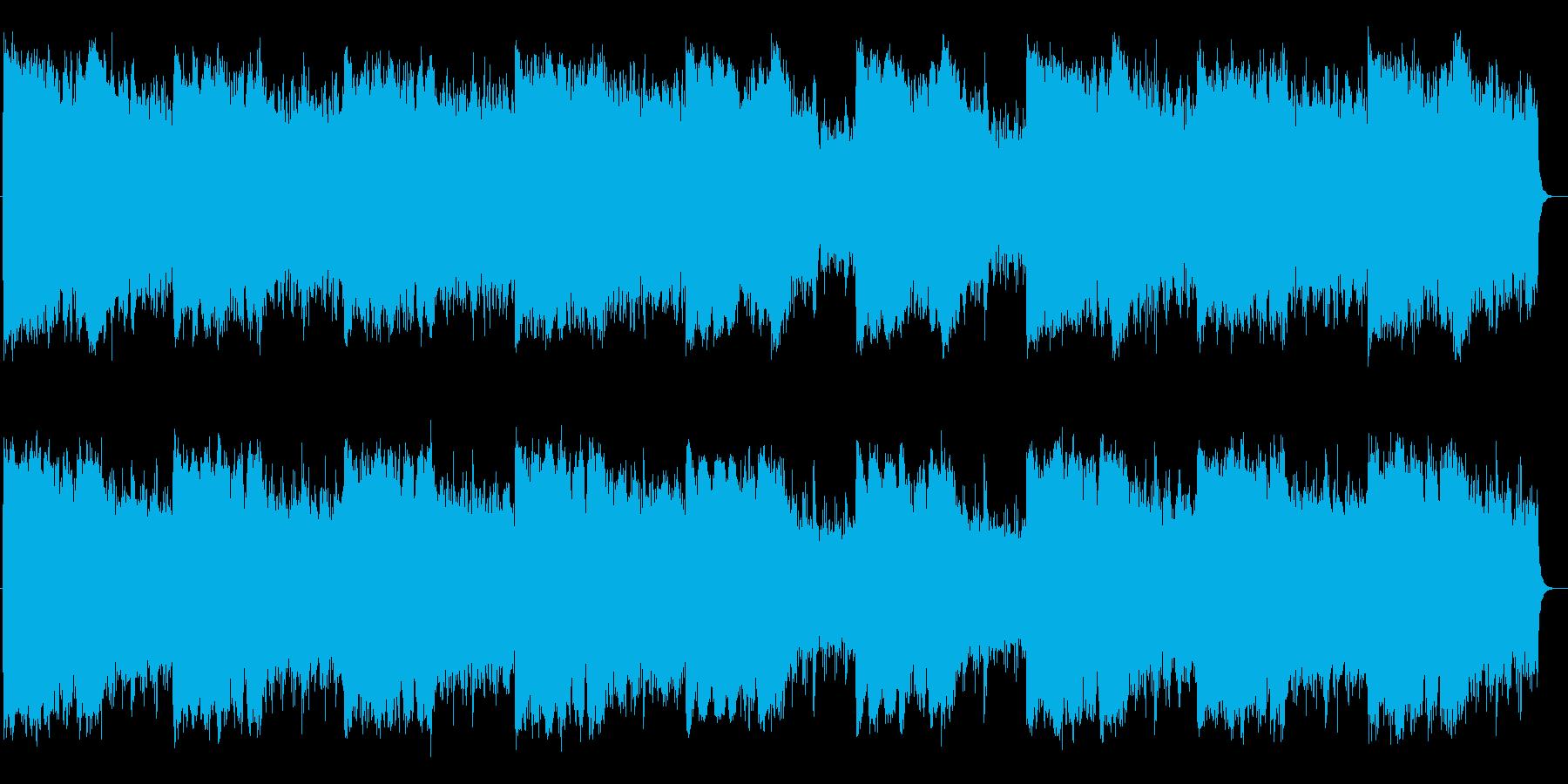 疾走感と勢いのシンセサイザーサウンドの再生済みの波形