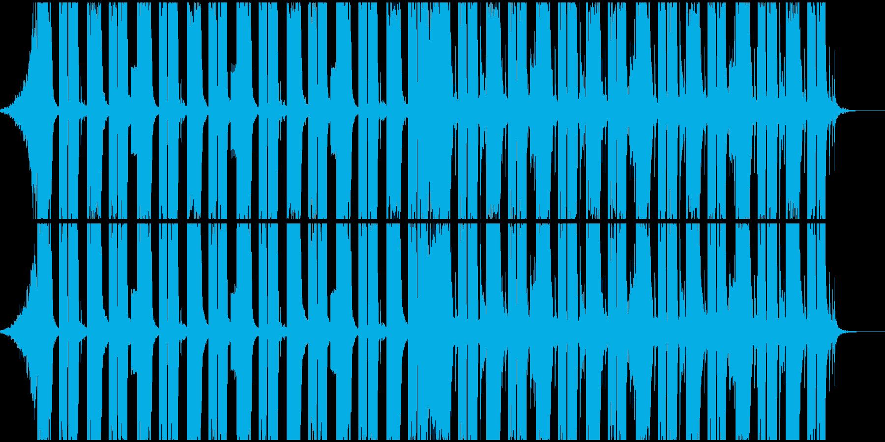 スローテンポのダブステップの再生済みの波形