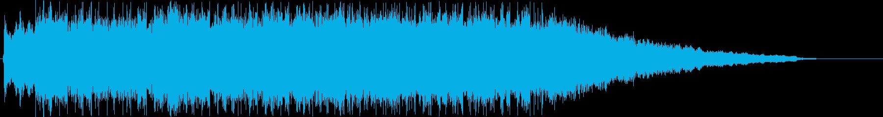 活動的で疾走感のあるシンセのジングル曲の再生済みの波形
