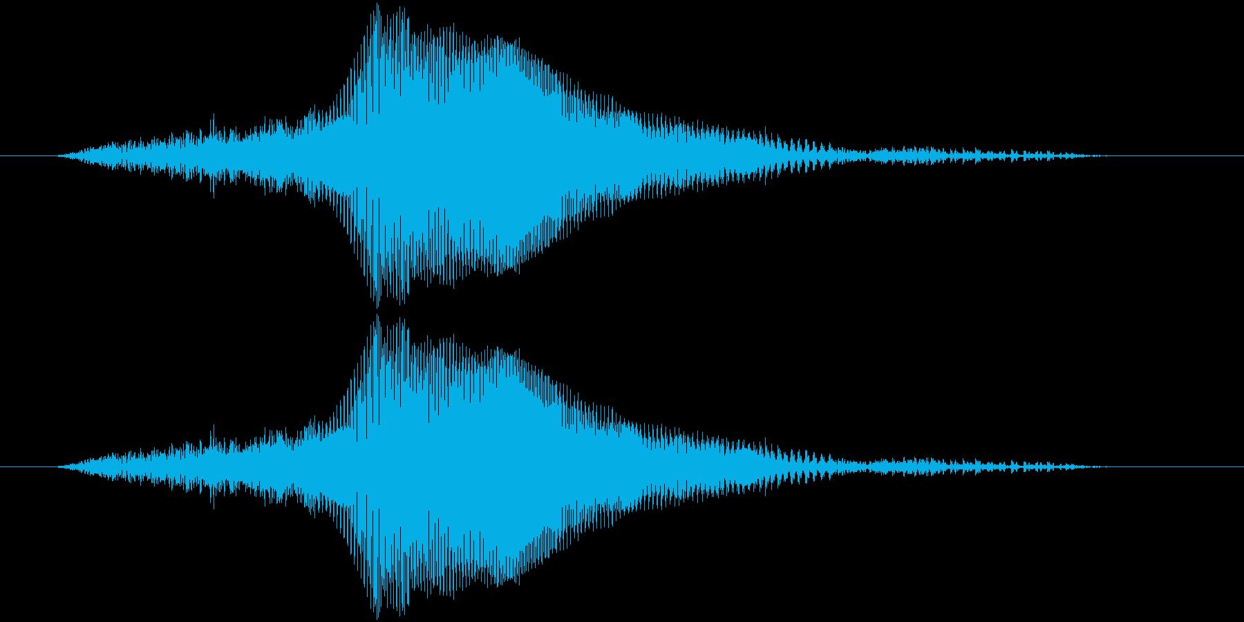 スリーの再生済みの波形
