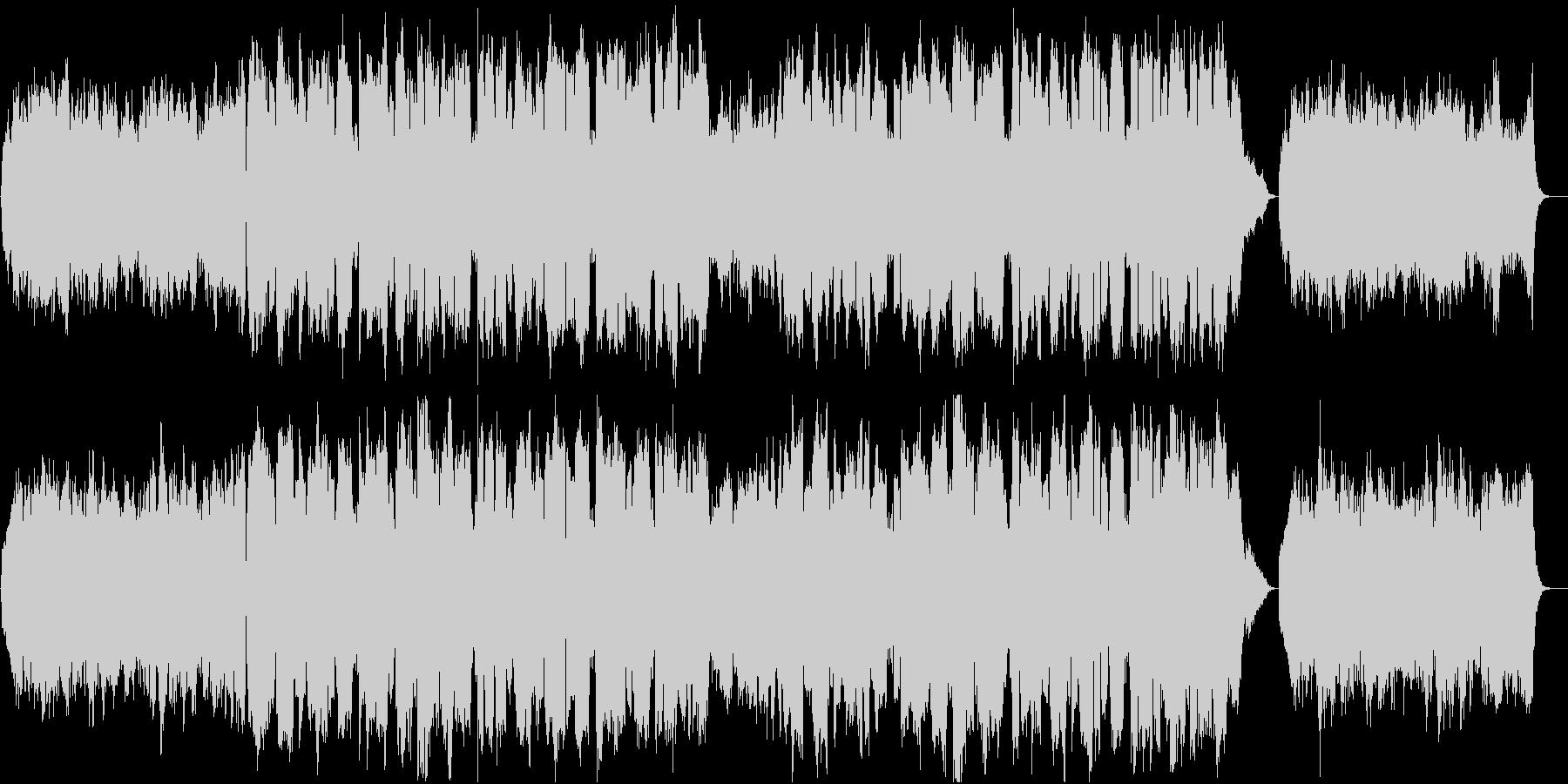 「蛍の光」 ストリングスアレンジでの歌唱の未再生の波形