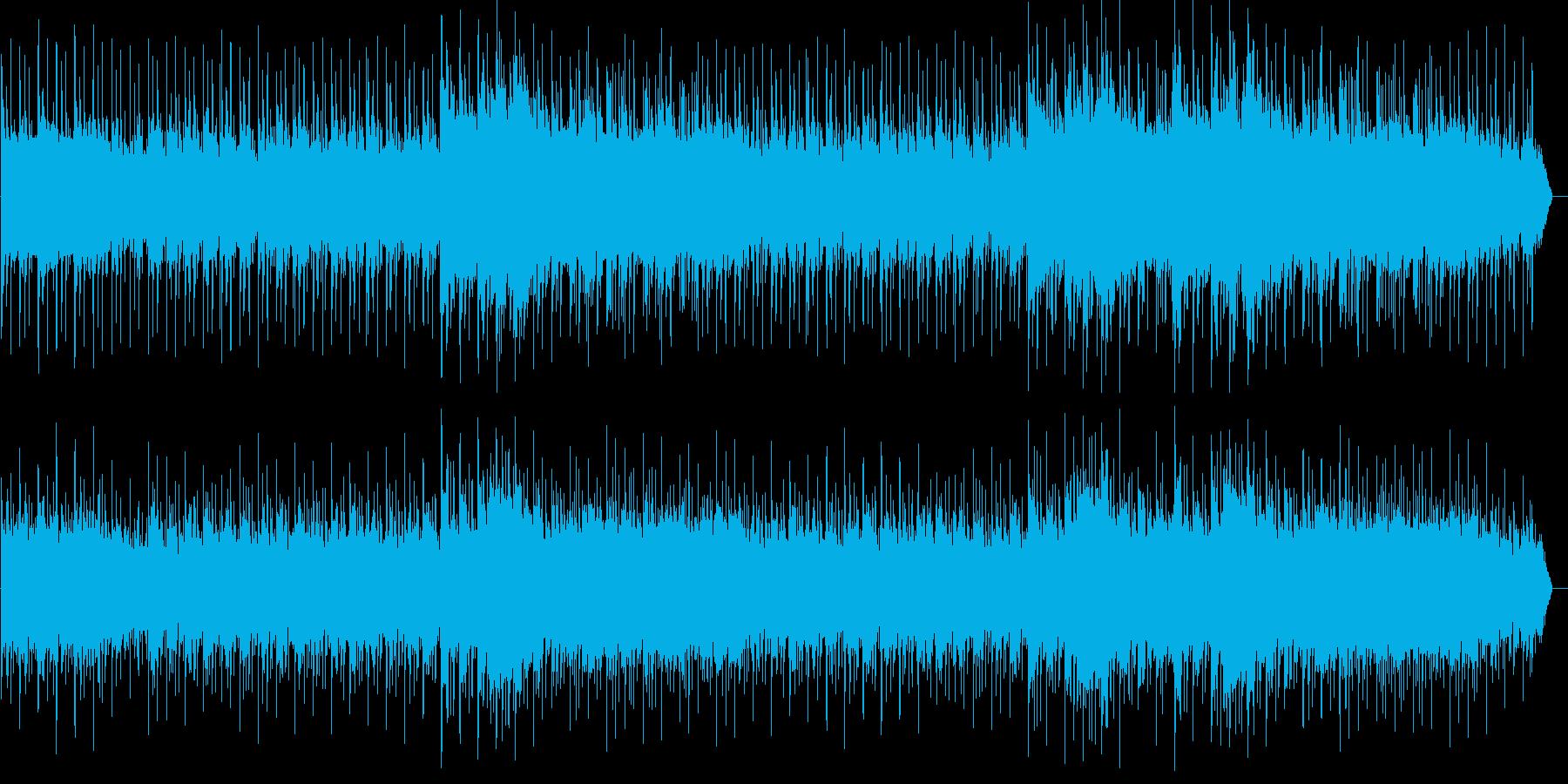 大草原に立つライオンのようなイメージの再生済みの波形
