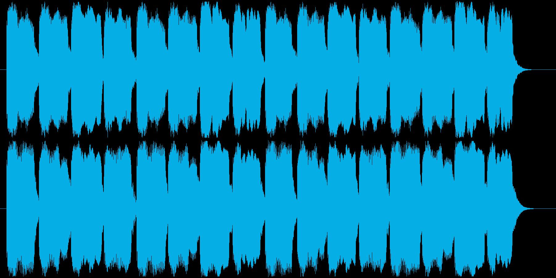 迷いを感じた時の音の再生済みの波形