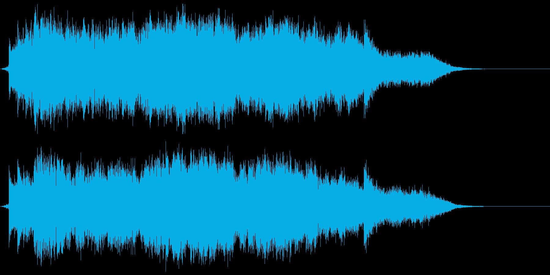 重厚でスケール感のあるジングルの再生済みの波形