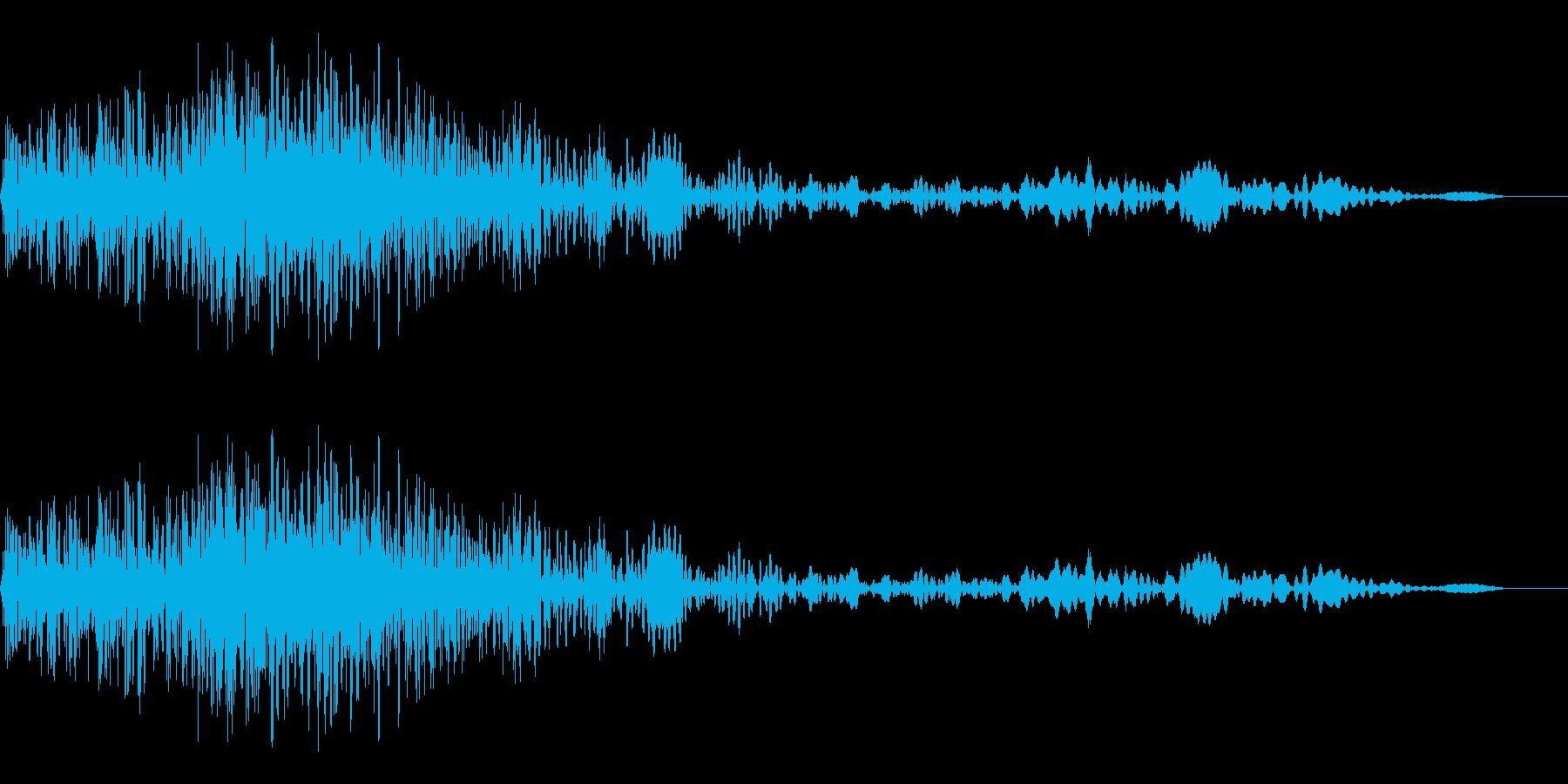 ショット音、射出音の再生済みの波形