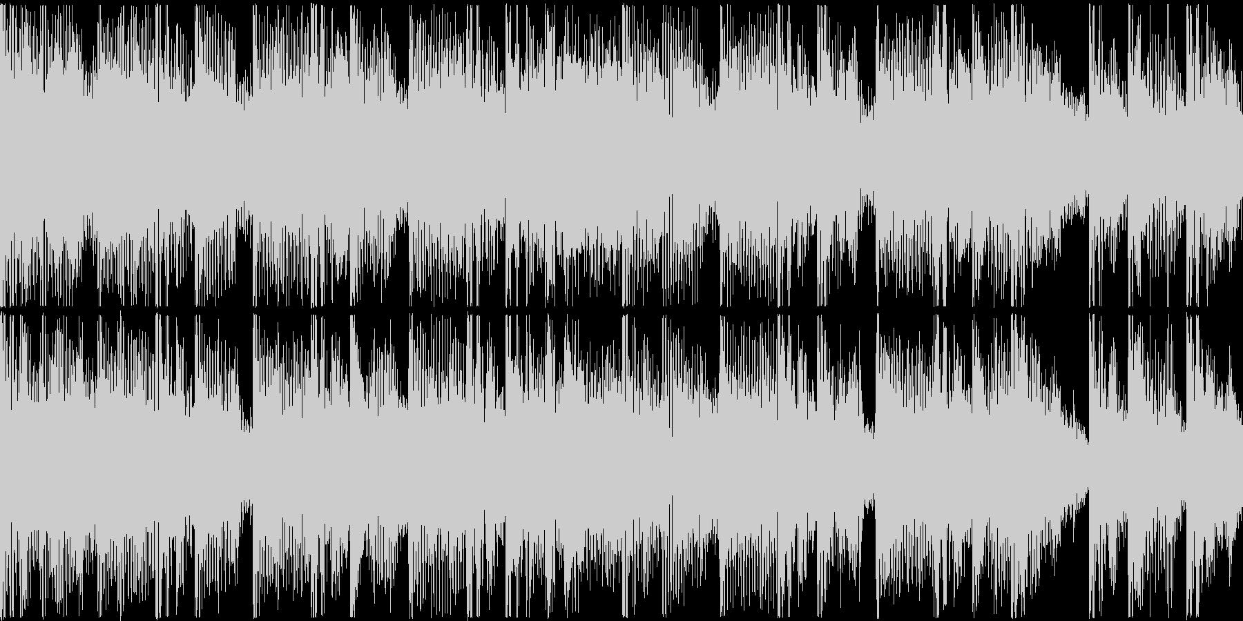 ループ。シンセ、リズムマシーン打ち込み。の未再生の波形