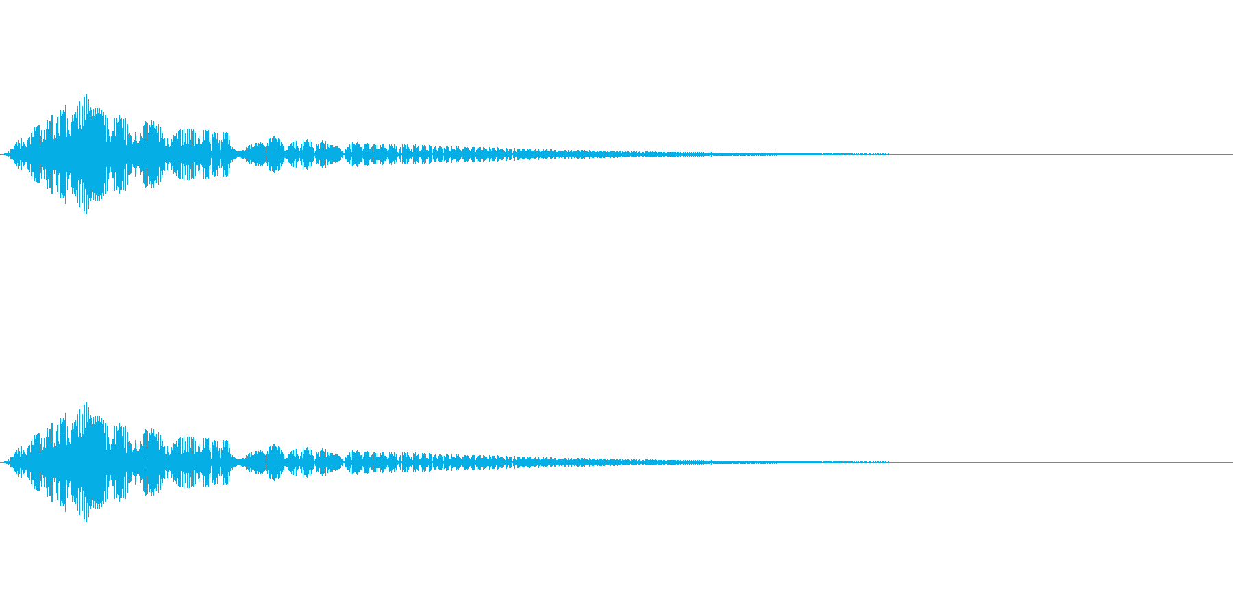 魔法、状態異常などに使える効果音_2の再生済みの波形