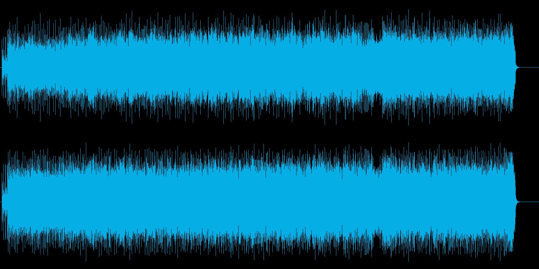 ストレートなギターのビート系ポップロックの再生済みの波形