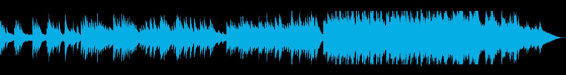 ピアノの落ち着いた旋律が主体のバラードの再生済みの波形