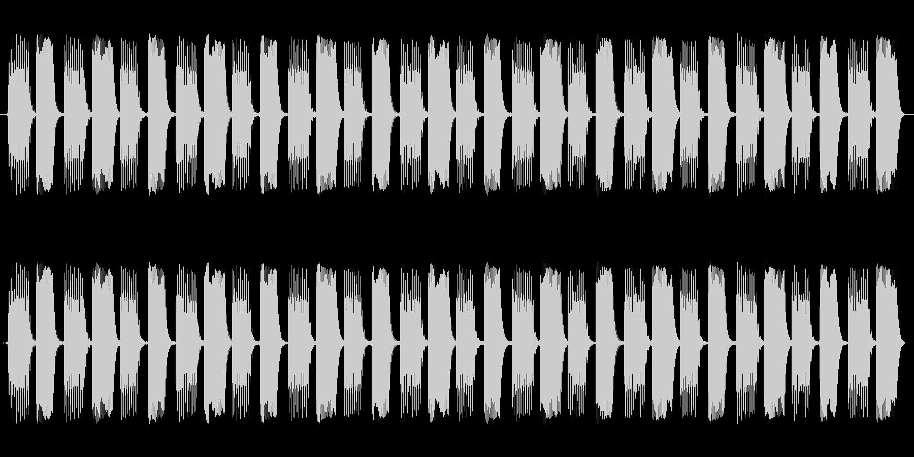 ピコピコピコピコ・・・という電子音です…の未再生の波形