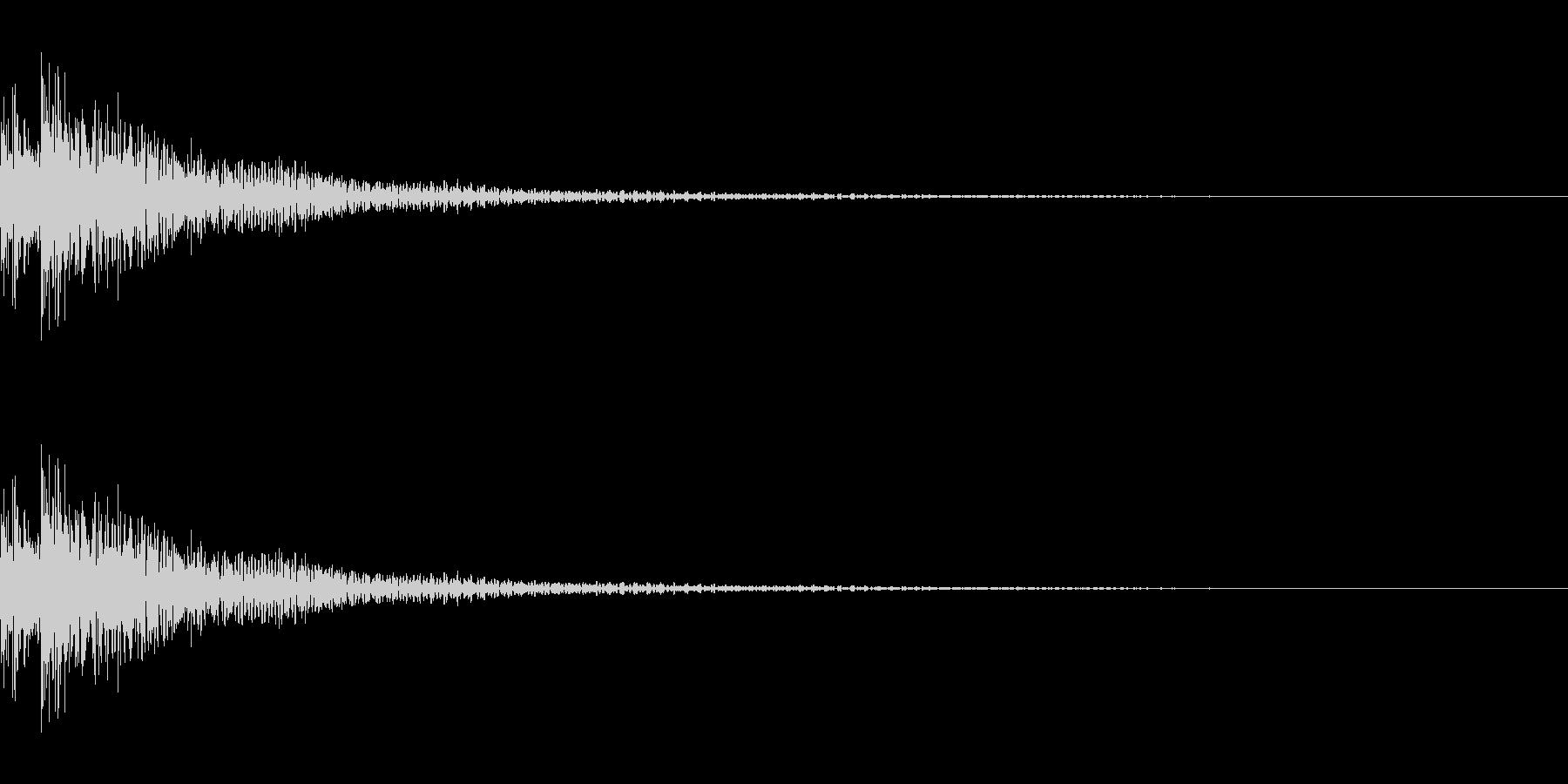 ティンパニ。「ドドン」の未再生の波形