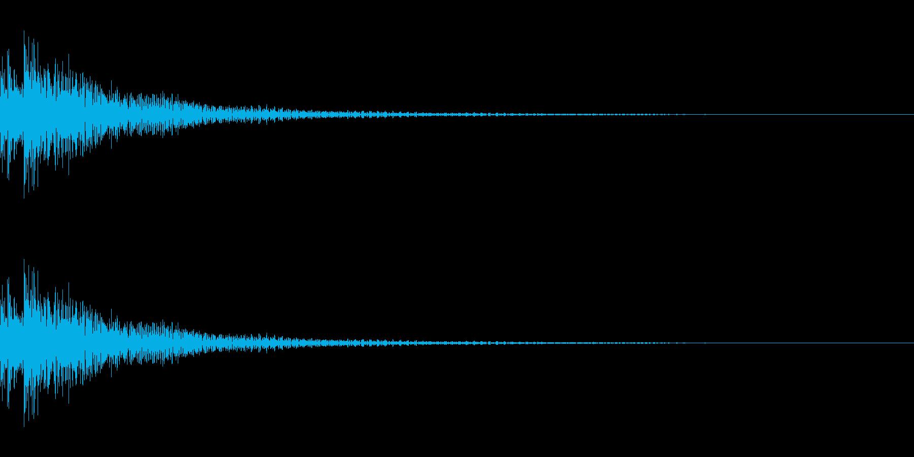 ティンパニ。「ドドン」の再生済みの波形