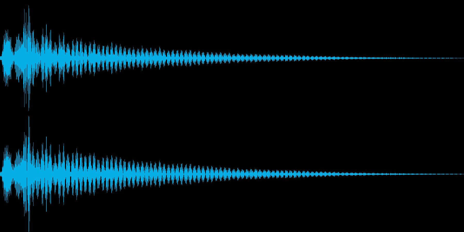 コン(カーソル移動、決定、ボタン)の再生済みの波形