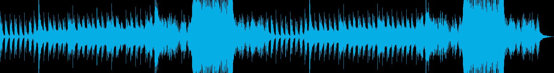 ピアノが印象的なエンドロールソングの再生済みの波形