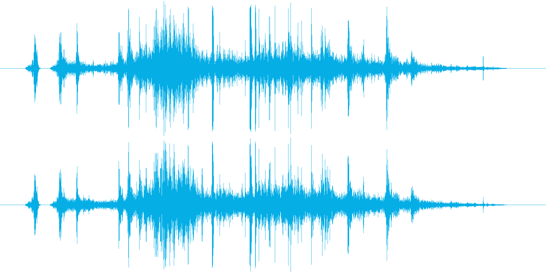 食べ物を食べる/かじる/噛む,効果音01の再生済みの波形