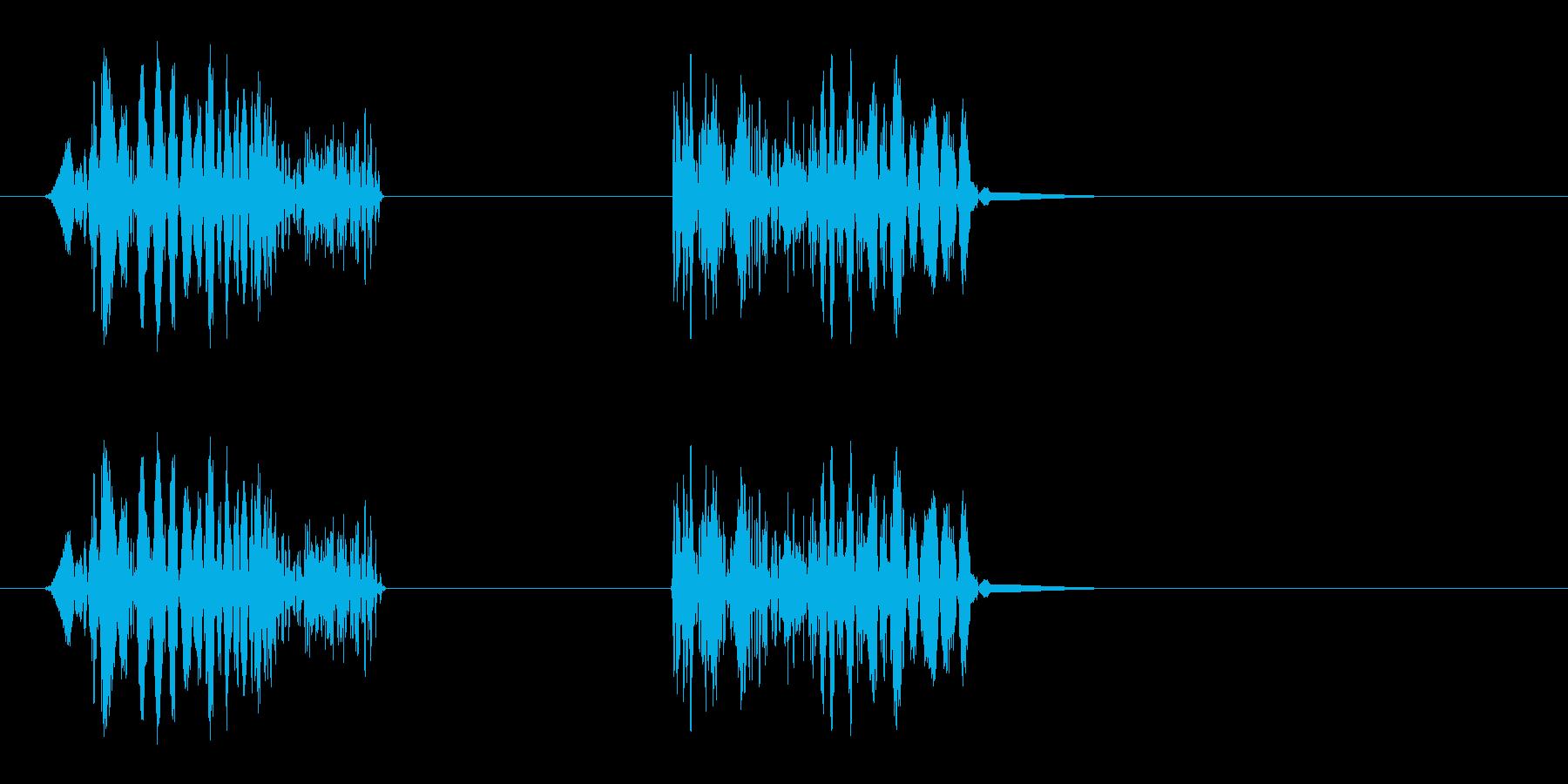 シュワッ(スクラッチ、ひっかく音)の再生済みの波形