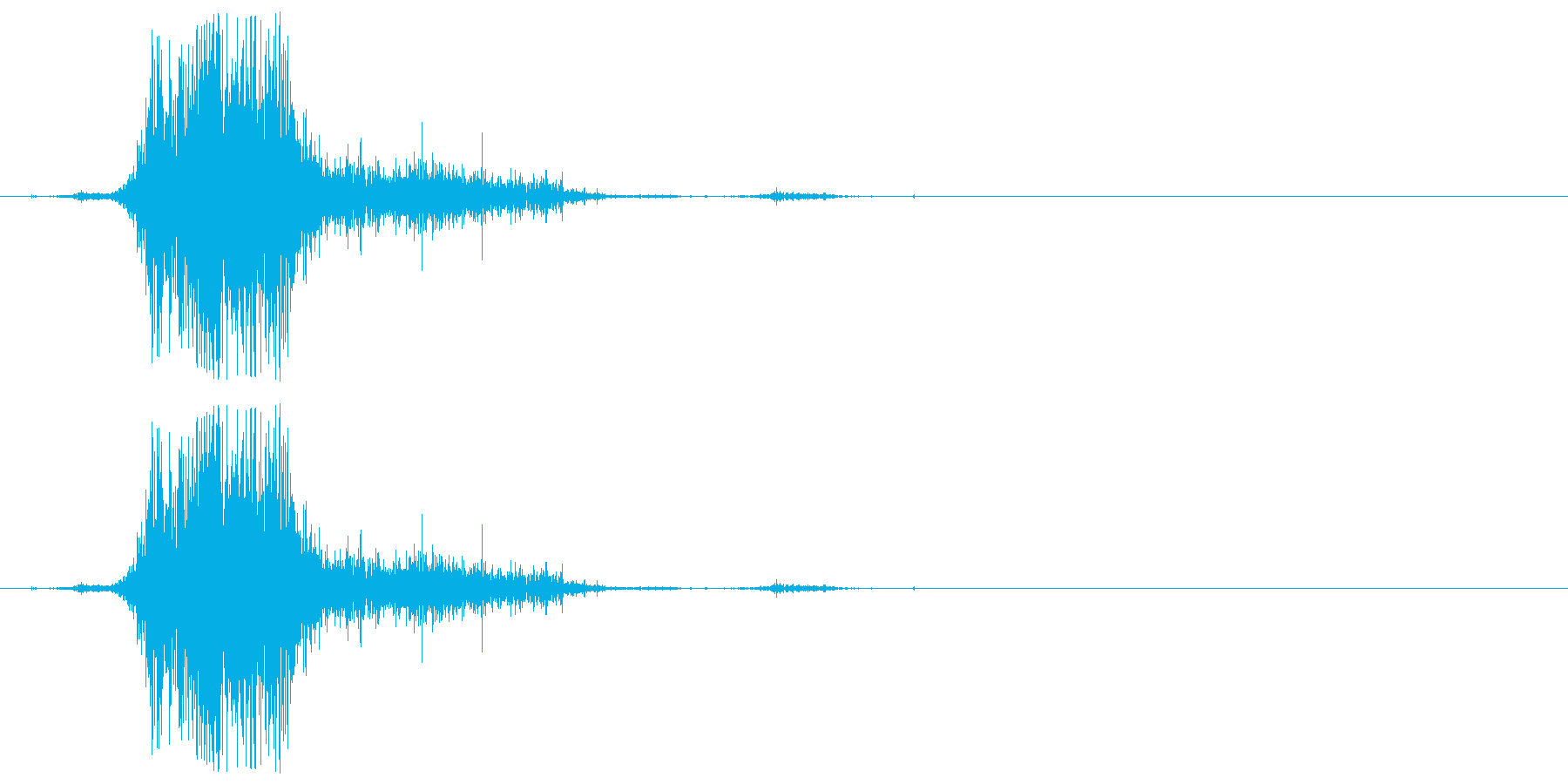 ズシャッ(サッカー・スライディング)の再生済みの波形