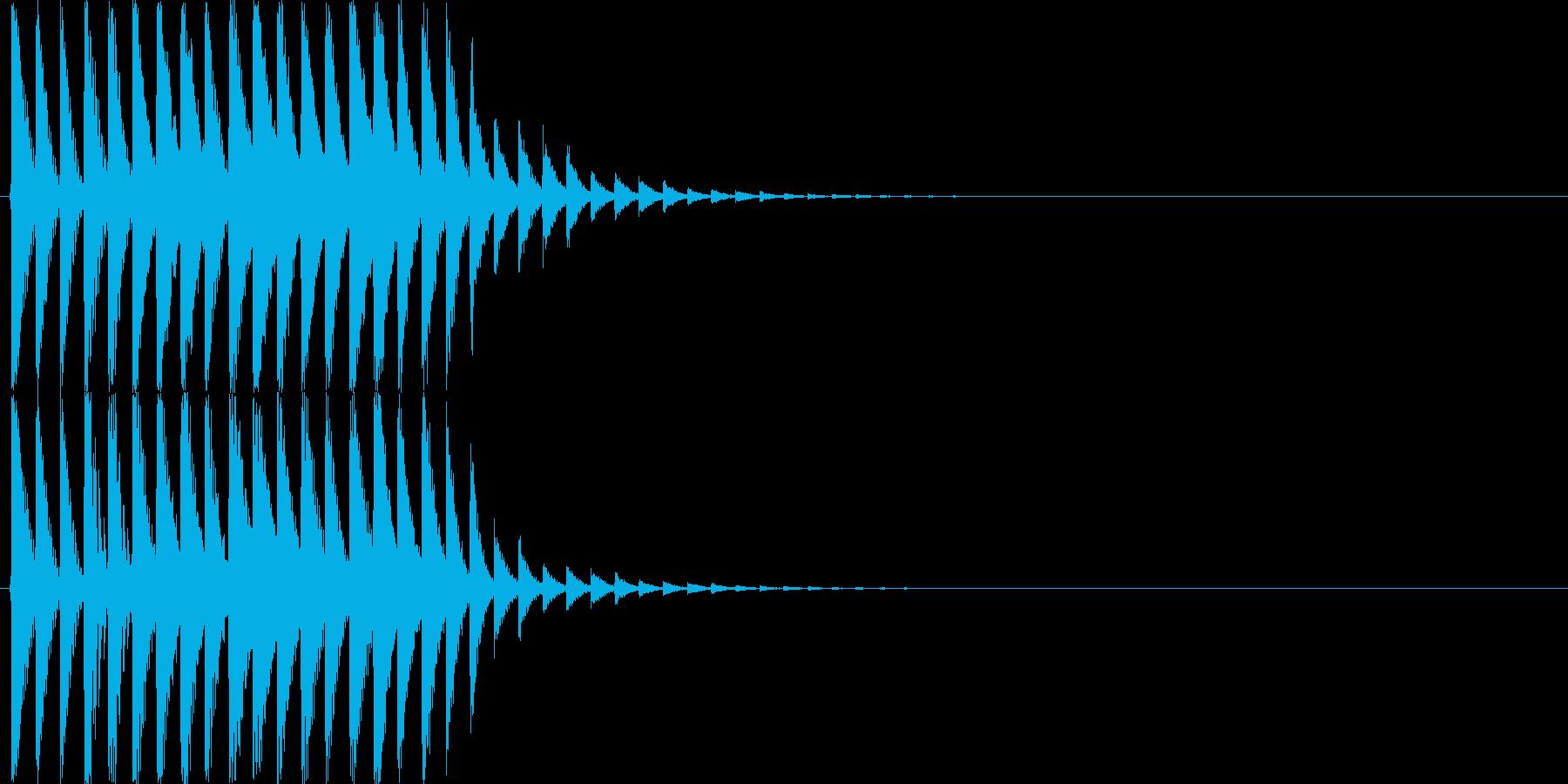 キラキラ・シャラララと広がるような音の再生済みの波形