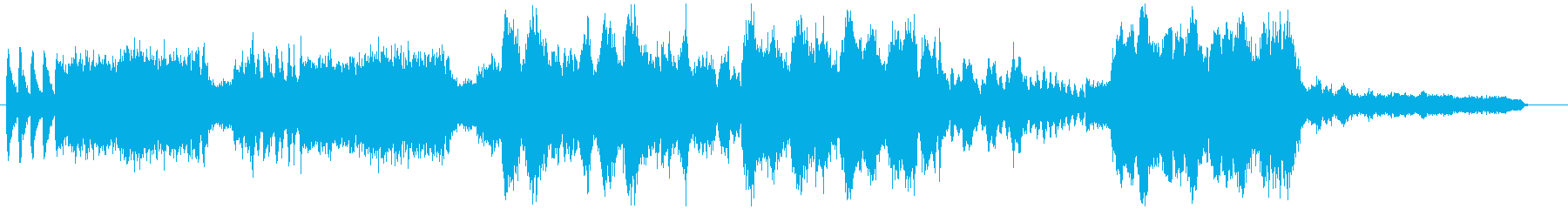 「バトロワ」などでお馴染のオーケストラ曲の再生済みの波形