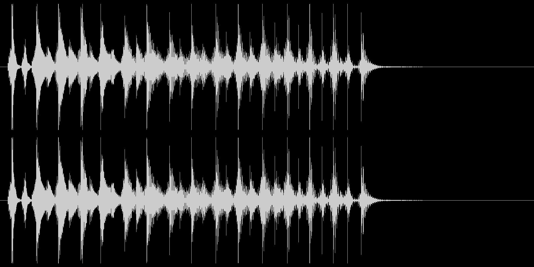 エレキギターによるテケテケの未再生の波形